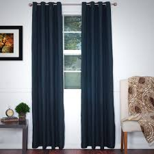 Curtain Holdbacks Home Depot by Lavish Home Black Polyester Grommet Curtain 56 In W X 84 In L