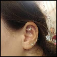 stud cartilage piercing fashion pair flower butterfly sterile ear stud earrings