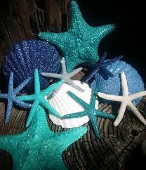 coastal beach ornaments glitter sparkle sea life ornament