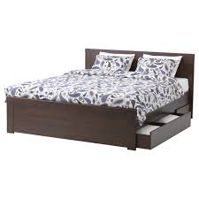Cool Bed Frames With Storage Brusali Bed Frame With 4 Storage Boxes Queen Ikea 12 Cool Box