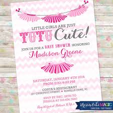 wonderful tutu cute baby shower invitations 56 on baby shower