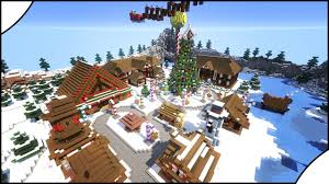 how to minecraft build a beautiful christmas village youtube