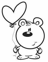 valentine u0027s bear free printable coloring pages clip art library