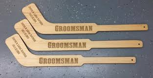 best groomsmen gifts laser engraved mini hockey sticks best gift groomsmen gift