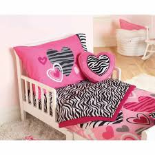 toddler bed bedding for girls garanimals zebra hearts 4 piece toddler bedding set walmart com