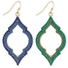 zad earrings wholesale gold beaded quatrefoil earring zad fashion