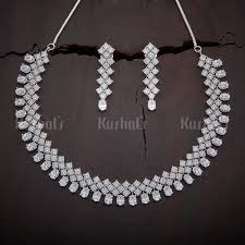 zircon necklace images Buy cz zircon necklaces for women online kushal 39 s fashion jewellery jpg