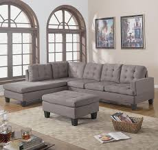 Charcoal Gray Sectional Sofa Divano Roma Furniture 3 Reversible Chaise