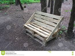 Patio Furniture Made Out Of Pallets by Bench Made Of Wooden Pallets Stock Photo Image 74979207