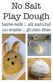 no salt play dough recipe taste safe gluten free sensory play
