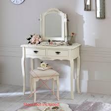 coiffeuse chambre crème bois coiffeuse miroir set shabby français chic vintage