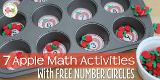 Math Decorations For Classroom Apple Math Activities For Kids 7 Math Activities With Numbered