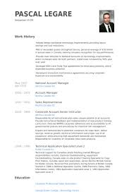 account manager resume exles national account manager resume sles visualcv resume sles