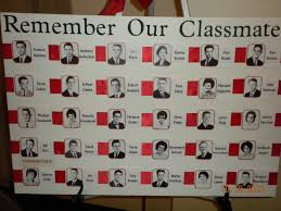 class reunions ideas remembrance board of deceased classmates board includes their