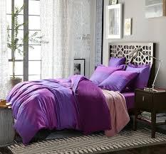 purple satin solid full queen size duvet cover bedding sets full