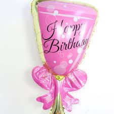 wedding supplies online shop chagne cup aluminum foil balloons 2pcs lot pink