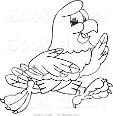 vector clip art of a black and white coloring page of a bald eagle
