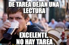 College Senior Meme - de tarea dejan una lectura lazy college senior meme en memegen
