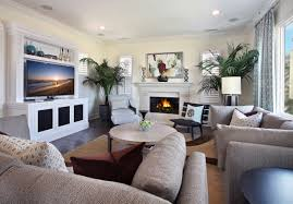 living room stunning neutral living room with big tv a stylish