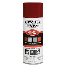 shop rust oleum industrial choice cherry red enamel spray paint