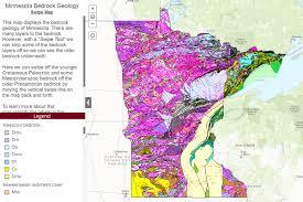 map mn map of minnesota s bedrock geology