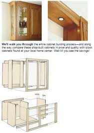 Building Kitchen Cabinet Build Your Own Kitchen Cabinets Plans Home And Health