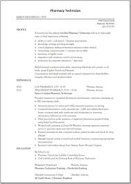Resume Summary Of Qualifications Example Pharmacy Technician Resume Summary Resume For Your Job Application