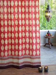 Orange Panel Curtains Bohemian Curtains Moroccan Curtains India Curtains Exotic