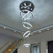 Indoor Chandeliers Dimmable 5 Rings Modern Led Ceiling Pendant Light Indoor