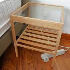 ikea bamboo nightstand furniture u0026 home on carousell