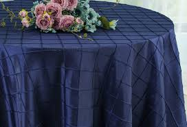 navy blue table linens navy blue 120 round pintuck taffeta tablecloths