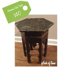 splash of lime high low moroccan table