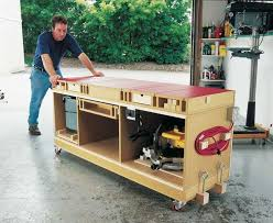 Free Plans To Build A Woodworking Bench by Best 25 Mobile Workbench Ideas On Pinterest Workbench Ideas