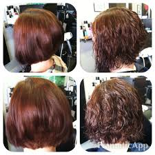body wave perm hairstyle before and after on short hair a line haircut before after perm hair by me pinterest
