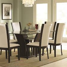 Espresso Dining Room Set by Trent Home Daisy Rectangular Glass Top Dining Table In Espresso