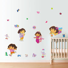 popular dora wall stickers buy cheap dora wall stickers lots from cartoon dora monkey dinosaur wall stickers decal kids room girls sticker nursery home decor vinyl