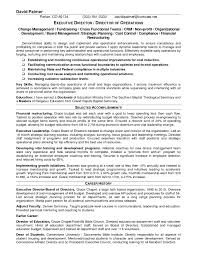 Resume For Store Manager Non Profit Program Director Resume Sample Resume For Your Job