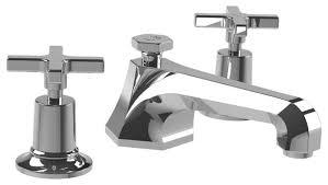 Cross Handle Faucets Mackintosh Cross Handle Faucet Polished Chrome Transitional