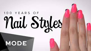 100 years of fashion nails glam com youtube