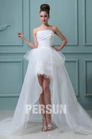 robe de marier robe de mariée bustier à jupe évasée et asymétrique persun fr