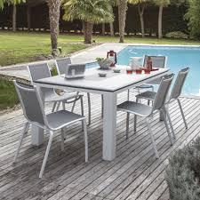 mobilier outdoor luxe salon de jardin 6 places proloisirs jardin pinterest