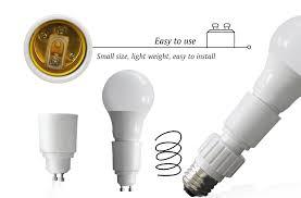 Small Base Light Bulbs Gu10 To E26 E27 Adapter Bayonet To Edison Socket Adapter