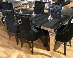 black glass dining room table new lacene 200cm black glass dining table ava crushed velvet
