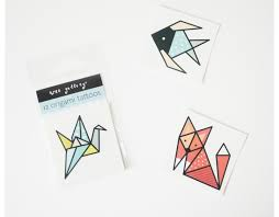 cool little origami temporary tattoos for kids cool mom picks