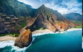 nature landscape aerial view coast beach cliff sea mountain