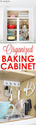 Kitchen Cabinet Organize Organized Baking Cabinet Cabinet Space Organizing And Modern Family