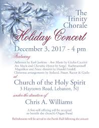 the episcopal diocese of new jersey trinity chorale holiday concert