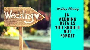 wedding planning details wedding planning 14 details you should not forget distinctly
