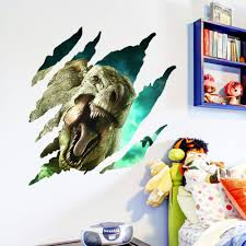 floor park promotion shop for promotional floor park on aliexpress com home decoration wall stickers 3d dinosaurs lifelike jurassic park in living room bedroom personality fashion mural art poster