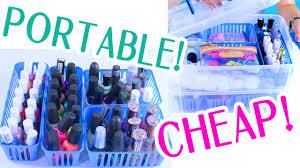 nail polish organization and storage portable inexpensive